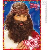 pruik, profeet met baard (in plastic doos)