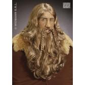 pruik, viking met baard en snor (in plastic doos)