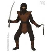 Bruine Ninja kind kostuum