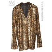 Disco fever shirt goud en zilver
