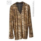 Disco fever shirt goud en zilver