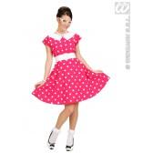 Jurk 50's Met Petticoat, Rose