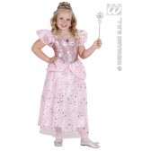 Prinses roze kind kostuum