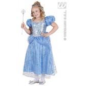 Prinses blauw kind kostuum