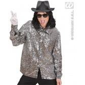 Pailletten Shirt Zilver disco king of pop