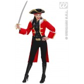 Piratenkapitein Dame In Rood