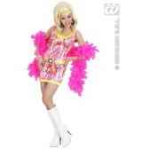 70's Mode Meisje Met Hoofdband, Riem In 3 Kleuren disco
