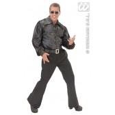 Zwart Shirt Pailletten Man