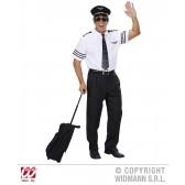 pilotenshirt met stropdas en hoed