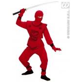 Rode Ninja kind kostuum