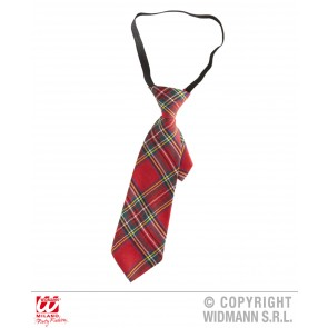 tartan print stropdas rood
