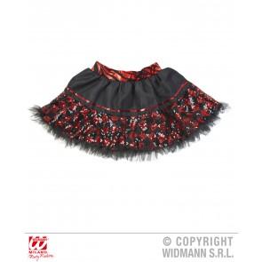 tutu pailletten zwart/rood