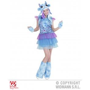 Blauw monster meisje