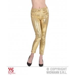 pailletten legging goud