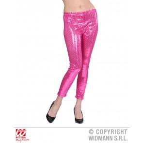 Pailletten legging roze