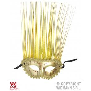 oogmasker goud met lange punten
