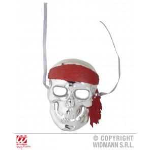 schedelmasker piraat, zilver