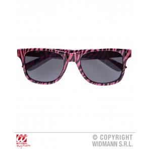 bril, zebra Roze