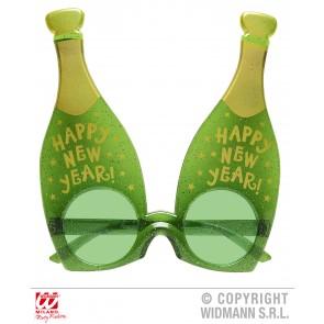 bril, champagne glazen