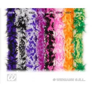 boa, 2-kleurig paars/wit 180cm