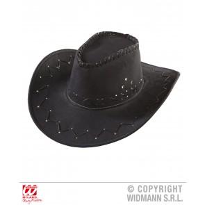 cowboyhoed suede zwart