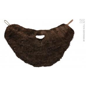 baard met snor, bruin