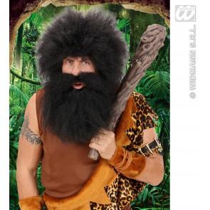 baard holbewoner, zwart