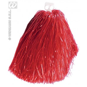 pom pom, luxe uitvoering rood