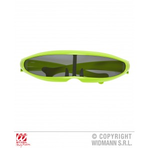 bril, robot groen