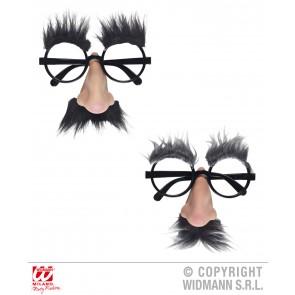 bril, met neus, wenkbrouwen en snor