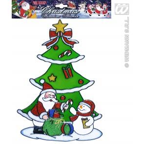 raamstickers 30cm kerstboom