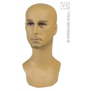 display hoofd halfbloed man 40cm