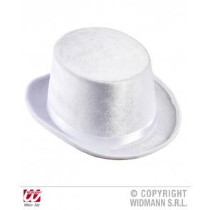 hoge hoed wit, fluweel