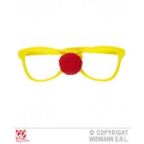 grote bril met clownsneus
