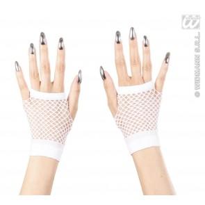 vingerloze nethandschoenen wit