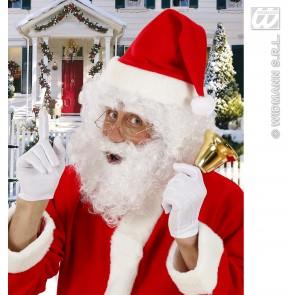 pruik kerstman met baard en wenkbrouwen