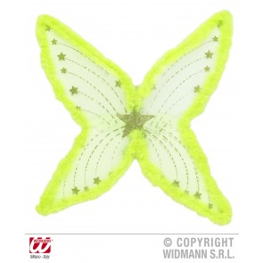 maxi vleugel glitter, groen met marabou