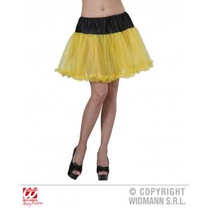 petticoat zwart/geel