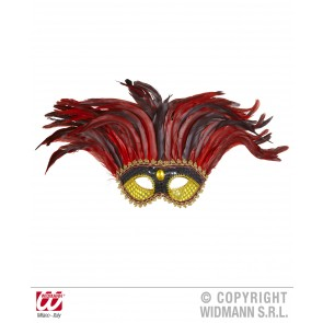 oogmasker maya goud/zwart