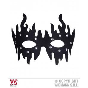 oogmasker zwart met stenen