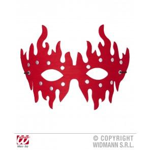 oogmasker rood met stenen