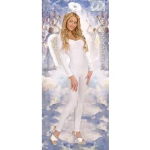 glitter vleugels wit met marabou