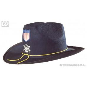 burgeroorlog hoed + decoratie, vilt