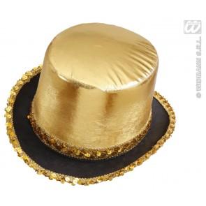 hoge hoed goud met pailletten beslag