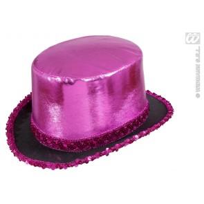 hoge hoed rose met pailletten beslag