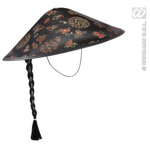 satijnen hoed chinese man met staartje