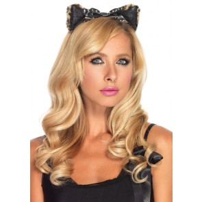 Plush Cheetah Ear Headband