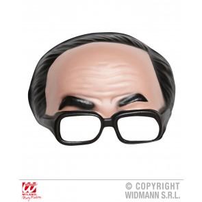 masker zonder kin met bril en zwarte haarlijn
