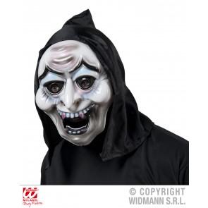 pvc heksenmasker met kap