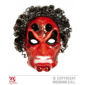 pvc duivelmasker met haar